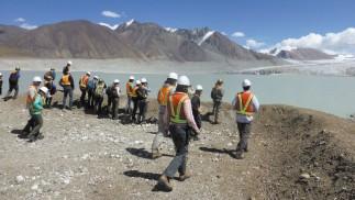 Geological field trip group
